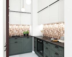 Kuchnia z drabiną - Mała zamknięta wąska kuchnia w kształcie litery u, styl skandynawski - zdjęcie od Este Design