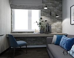 Pokój gościnny - Średnia biała sypialnia małżeńska, styl nowoczesny - zdjęcie od Este Design - Homebook