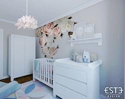 Pokój dziecięcy - Mały szary pokój dziecka dla chłopca dla dziewczynki dla niemowlaka, styl nowoczesny - zdjęcie od Este Design