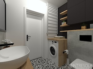 Projekt Wnętrz - Łazienka 5,1m2 - ANNTRESOLA - Projektowanie Wnętrz - zdjęcie od ANNTRESOLA Pracownia Wnętrz