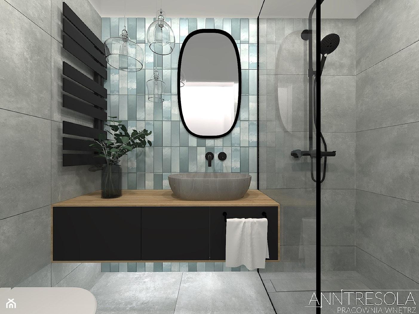 Projekt Wnętrz - Łazienka 3m2 - Industrialna ANNTRESOLA - Projektowanie Wnętrz - zdjęcie od ANNTRESOLA Pracownia Wnętrz - Homebook