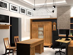 Koncepcja biura rachunkowego - Średnie czarne białe biuro domowe w pokoju - zdjęcie od ESS-PRACOWNIA PROJEKTOWA