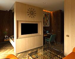 MID-CENTURY MODERN KAWALERKA - Średni salon, styl nowoczesny - zdjęcie od SQUARE interiors