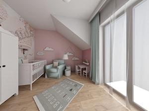 Bliźniak w Łodzi na Widzewie - Średni beżowy różowy pokój dziecka dla chłopca dla dziewczynki dla ucznia dla niemowlaka - zdjęcie od IDI Studio