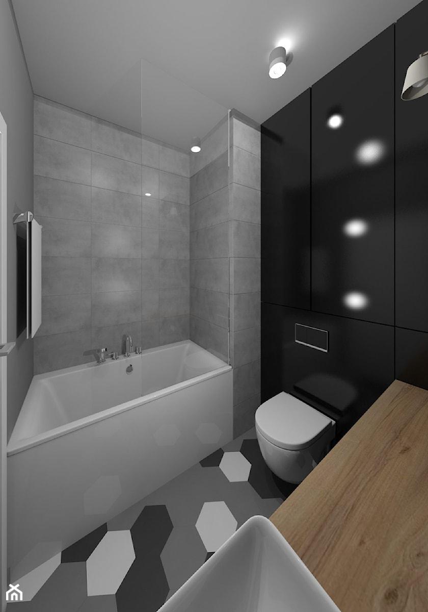 Minimalizm Z Granatem W Tle łazienka Zdjęcie Od Idi