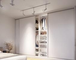 Aranżacje - Duża biała sypialnia małżeńska, styl nowoczesny - zdjęcie od GTV - Homebook