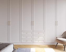 Aranżacje - Duża biała sypialnia małżeńska, styl glamour - zdjęcie od GTV - Homebook