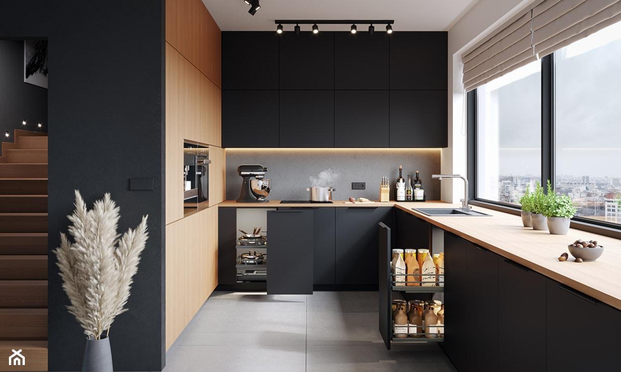 nowoczesna kuchnia, organizacja kuchni, kosze cargo