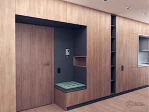 Mieszkanie soft-loft dla 2+1 - Hol / przedpokój, styl industrialny - zdjęcie od Architekci Modelarnia