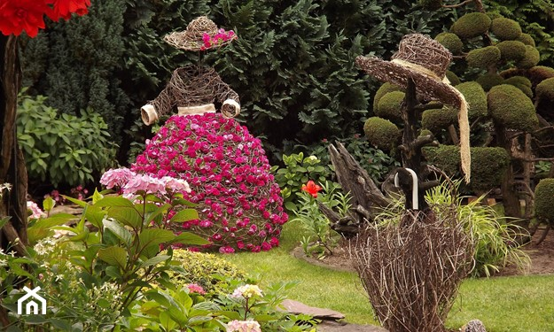 Ozdoby z szyszek do ogrodu