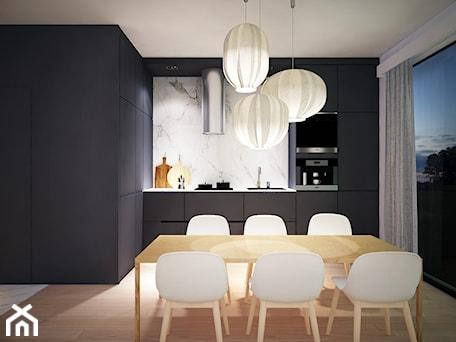 Aranżacje wnętrz - Kuchnia: Mieszkanie Na Zabłociu - Średnia otwarta biała kuchnia w kształcie litery l z oknem, styl nowoczesny - KAROLINA POPIEL - ARCHITEKURA WNĘTRZ. Przeglądaj, dodawaj i zapisuj najlepsze zdjęcia, pomysły i inspiracje designerskie. W bazie mamy już prawie milion fotografii!