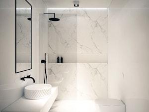 Mieszkanie Na Zabłociu - Mała średnia łazienka w bloku w domu jednorodzinnym bez okna, styl minimalistyczny - zdjęcie od OGRODY I WNĘTRZA - KAROLINA POPIEL