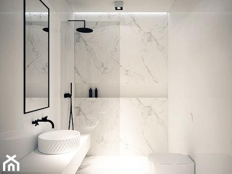 Aranżacje wnętrz - Łazienka: Mieszkanie Na Zabłociu - Mała średnia łazienka w bloku w domu jednorodzinnym bez okna, styl minimalistyczny - OGRODY I WNĘTRZA - KAROLINA POPIEL. Przeglądaj, dodawaj i zapisuj najlepsze zdjęcia, pomysły i inspiracje designerskie. W bazie mamy już prawie milion fotografii!