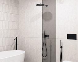 Łazienka z wanną wolnostojącą i prysznicem - zdjęcie od KAROLINA POPIEL - ARCHITEKURA WNĘTRZ - Homebook