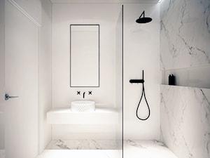 Mieszkanie Na Zabłociu - Mała łazienka w bloku bez okna, styl minimalistyczny - zdjęcie od OGRODY I WNĘTRZA - KAROLINA POPIEL
