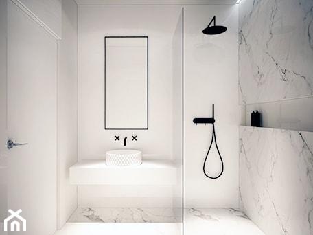 Aranżacje wnętrz - Łazienka: Mieszkanie Na Zabłociu - Mała łazienka w bloku bez okna, styl minimalistyczny - KAROLINA POPIEL - ARCHITEKURA WNĘTRZ. Przeglądaj, dodawaj i zapisuj najlepsze zdjęcia, pomysły i inspiracje designerskie. W bazie mamy już prawie milion fotografii!