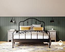 Duża sypialnia na poddaszu w stylu skandynawskim. - Sypialnia, styl rustykalny - zdjęcie od KAROLINA POPIEL - ARCHITEKURA WNĘTRZ - Homebook