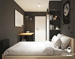 Remont mieszkania w starym budownictwie - Mały czarny pokój dziecka dla chłopca dla dziewczynki dla ucznia dla nastolatka, styl skandynawski - zdjęcie od OGRODY I WNĘTRZA - KAROLINA POPIEL