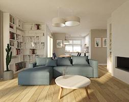 Dom pod Krakowem - Mały biały salon z jadalnią, styl skandynawski - zdjęcie od OGRODY I WNĘTRZA - KAROLINA POPIEL
