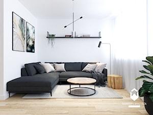 90 metrowe mieszkanie z antresolą. Industrialny minimalizm.