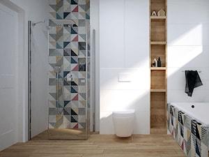łazienka z wanną i prysznicem - zdjęcie od OGRODY I WNĘTRZA - KAROLINA POPIEL