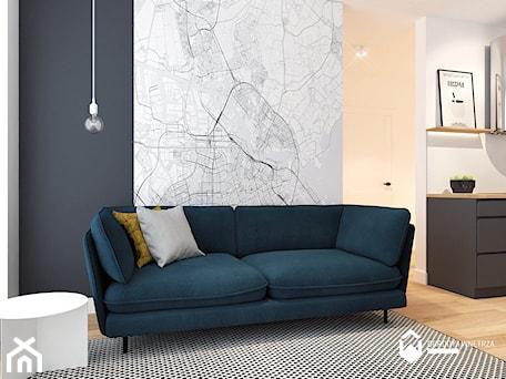 Aranżacje wnętrz - Salon: Salon z wygodną sofą. - KAROLINA POPIEL - ARCHITEKURA WNĘTRZ. Przeglądaj, dodawaj i zapisuj najlepsze zdjęcia, pomysły i inspiracje designerskie. W bazie mamy już prawie milion fotografii!