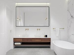Dom pod Tarnowem - Mała biała łazienka w bloku w domu jednorodzinnym bez okna, styl klasyczny - zdjęcie od OGRODY I WNĘTRZA - KAROLINA POPIEL