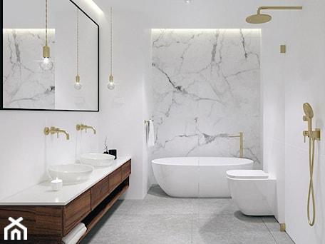 Aranżacje wnętrz - Łazienka: Dom pod Tarnowem - Średnia biała łazienka w bloku w domu jednorodzinnym bez okna, styl klasyczny - KAROLINA POPIEL - ARCHITEKURA WNĘTRZ. Przeglądaj, dodawaj i zapisuj najlepsze zdjęcia, pomysły i inspiracje designerskie. W bazie mamy już prawie milion fotografii!