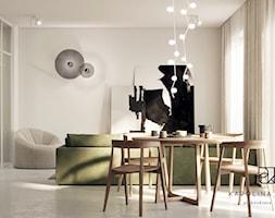 MIESZKANIE W NEUTRALNYCH KOLORACH - Salon, styl nowoczesny - zdjęcie od KAROLINA POPIEL - ARCHITEKURA WNĘTRZ - Homebook