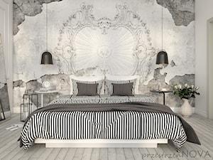 Jasna sypialnia z tapetą