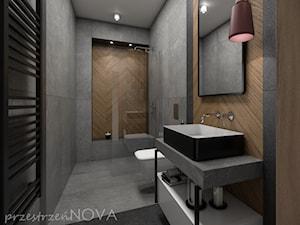 Wąska łazienka z prysznicem walk-in