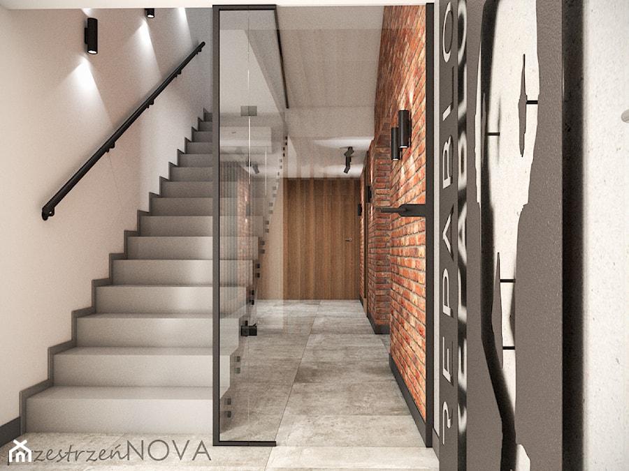 Przestrzeń biurowa firmy Repablo - Duże szare białe biuro pracownia, styl industrialny - zdjęcie od przestrzeńNOVA