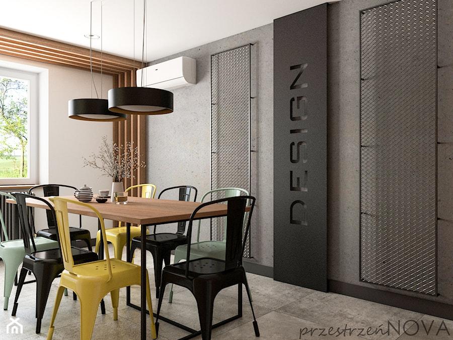 Przestrzeń biurowa firmy Repablo - Jadalnia, styl industrialny - zdjęcie od przestrzeńNOVA