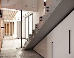 Przestrzeń biurowa firmy Repablo - Średnie białe biuro pracownia w pokoju, styl industrialny - zdjęcie od przestrzeńNOVA - Homebook