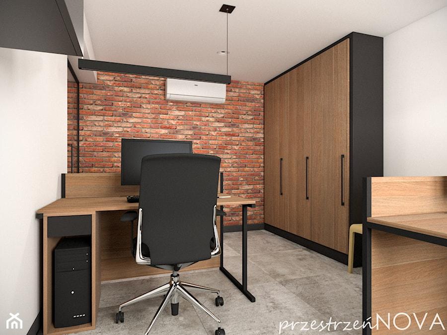 Przestrzeń biurowa firmy Repablo - Średnie białe biuro pracownia w pokoju, styl industrialny - zdjęcie od przestrzeńNOVA
