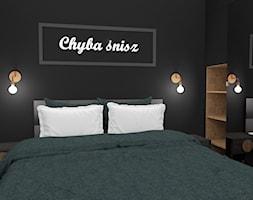 Czarna sypialnia - zdjęcie od Magda Banach