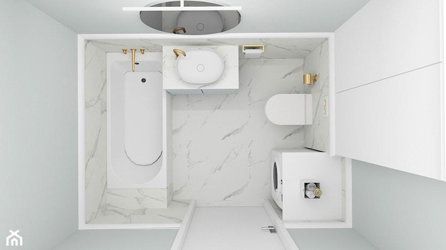 Błękitne szarości - Średnia łazienka, styl nowoczesny - zdjęcie od Magda Banach