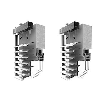 Żaluzja zewnętrzna standardowa z profilem C80 lub Z90