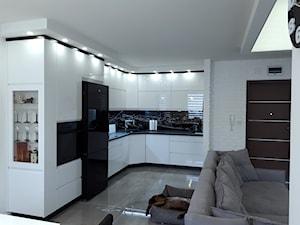 remont - Średnia biała kuchnia w kształcie litery l w aneksie, styl nowoczesny - zdjęcie od Wiola Czarnojan