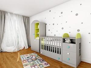 Pokój niemowlaka - Średni biały pokój dziecka dla chłopca dla dziewczynki dla niemowlaka, styl nowoczesny - zdjęcie od Sharing4Kids