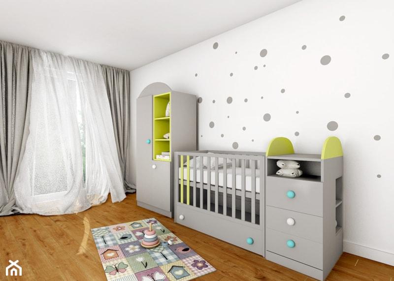 Aranżacje wnętrz - Pokój dziecka: Pokój niemowlaka - Średni biały pokój dziecka dla chłopca dla dziewczynki dla niemowlaka, styl nowoczesny - Sharing4Kids. Przeglądaj, dodawaj i zapisuj najlepsze zdjęcia, pomysły i inspiracje designerskie. W bazie mamy już prawie milion fotografii!