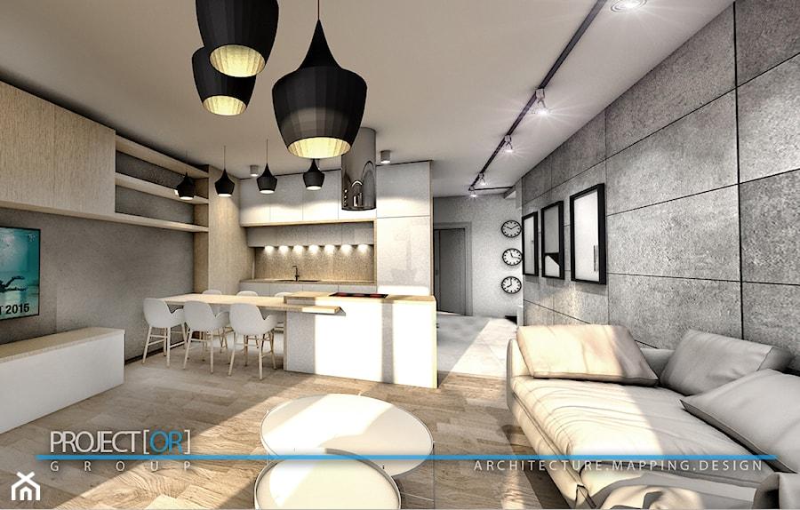 pOR_05 - Wood&Gray - Kuchnia, styl nowoczesny - zdjęcie od Project[OR] Group