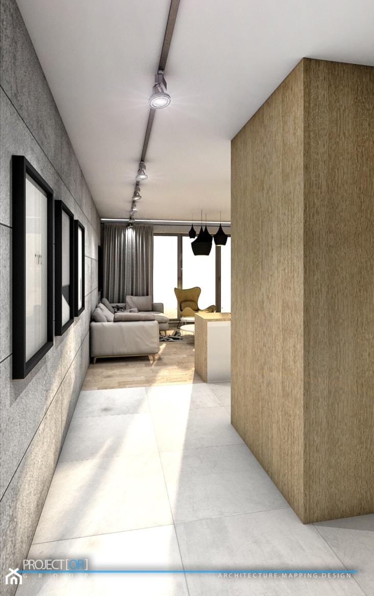 pOR_05 - Wood&Gray - Średni hol / przedpokój, styl nowoczesny - zdjęcie od Project[OR] Group