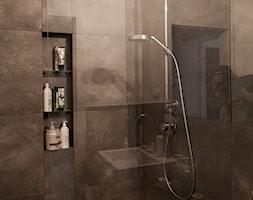 pOR_03 - White&Italia - Mała szara łazienka na poddaszu w bloku w domu jednorodzinnym bez okna, styl prowansalski - zdjęcie od Project[OR] Group