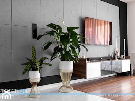 Aranżacje wnętrz - Salon: pOR_009 - Gold&Marable - Biały czarny salon, styl nowoczesny - Project[OR] Group. Przeglądaj, dodawaj i zapisuj najlepsze zdjęcia, pomysły i inspiracje designerskie. W bazie mamy już prawie milion fotografii!