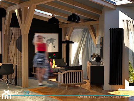 Aranżacje wnętrz - Salon: pOR_010 - Black&Wood - Salon, styl skandynawski - Project[OR] Group. Przeglądaj, dodawaj i zapisuj najlepsze zdjęcia, pomysły i inspiracje designerskie. W bazie mamy już prawie milion fotografii!