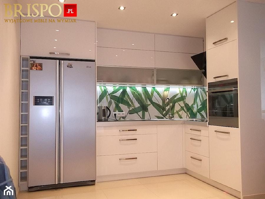 kuchnia z frontami lakierowanymi na wysoki połysk  zdjęcie od BRISPO WYJĄTKO