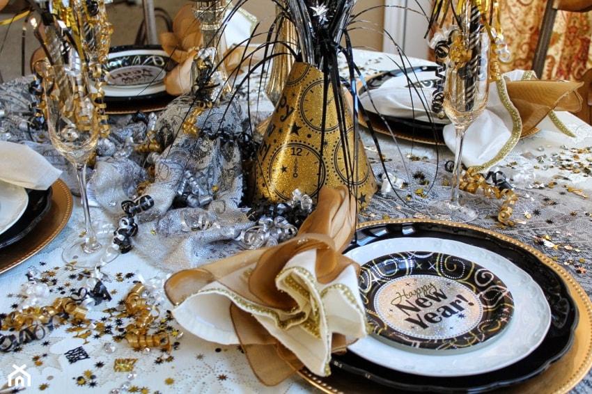 dekoracja stołu na sylwestra 2020/2021