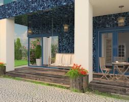 Projekt domu jednorodzinnego - Średni taras z tyłu domu - zdjęcie od Oksana Koniuszewska