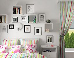 Projekt domu jednorodzinnego - Mały szary pokój dziecka dla dziewczynki dla malucha dla nastolatka, styl skandynawski - zdjęcie od Oksana Koniuszewska